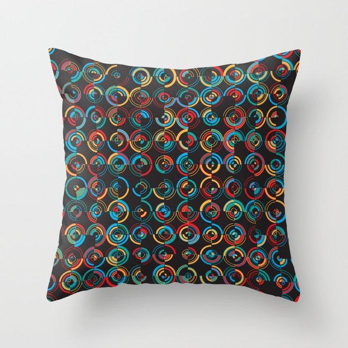 Semi Circ 2 Throw Pillow