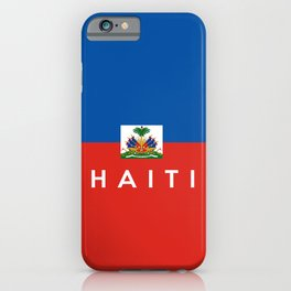 Haiti country flag name text  iPhone Case