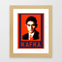 Authors of Note - Franz Kafka Framed Art Print