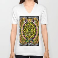 fabric V-neck T-shirts featuring Fabric Pattern by Eduardo Doreni