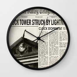 Hill Valley Telegraph - Back to the Future Wall Clock