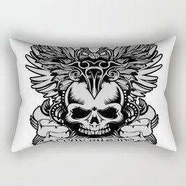 Rubino Skull Garden Rise Wings Rectangular Pillow