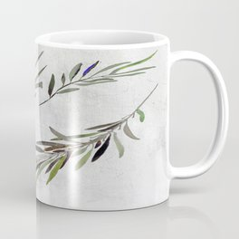 Eucalyptus Leaves White Coffee Mug