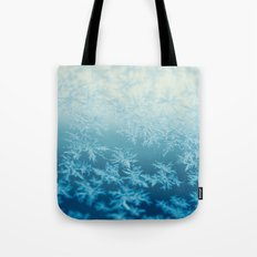 blue ombre frost Tote Bag