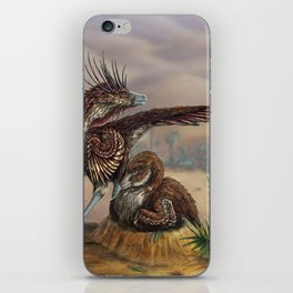 Brooding Velociraptors iPhone Skin