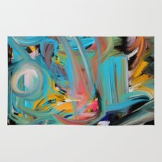 The Storm Abstract Expressionism Art Rug