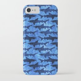 Sharks in the Blue, Blue Sea iPhone Case
