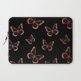 Rose Gold Butterflies Laptop Sleeve