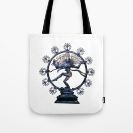 Shiva Nataraj, Lord of Dance (an actual factual fractal) Tote Bag