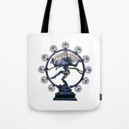 Shiva Nataraj, Lord of Dance (an actual factual fractal) Tote Bag