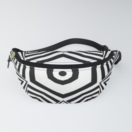 Stripe Star Pattern Black and White Fanny Pack