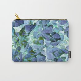 Inverted Art - Blue Leaves Carry-All Pouch
