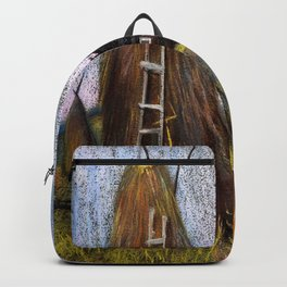 Hay mowing in the village Backpack
