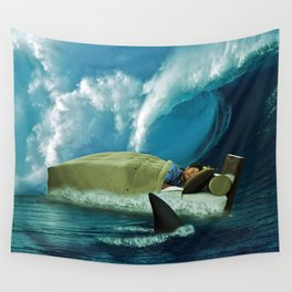 Sleeping with Sharks Wall Tapestry