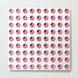 Flag of Usa in a polka dot. Metal Print