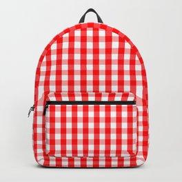 Christmas Red Velvet Large Gingham Check Plaid Pattern Backpack