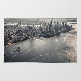 The Gray Cityscape of New York (Color) Rug