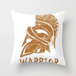 Spartan Warrior Helmet Ancient Rome Galea  Throw Pillow