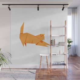 Origami Cat and Mouse Wall Mural