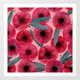 Abstract Eucalyptus Flower Art Print
