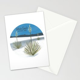 White Sands National Park New Mexico Circle Art Stationery Cards