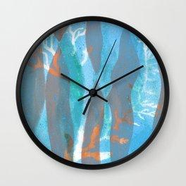 Sea Spray Underwater Pattern Prin Wall Clock