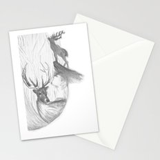 Stag and man Stationery Cards