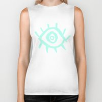 evil eye Biker Tanks featuring Evil Eye by schillustration