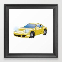Porche 911 Yellow Jacket Framed Art Print