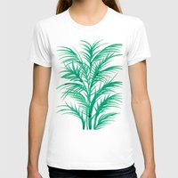 palms T-shirts featuring Mint Palms by Cat Coquillette