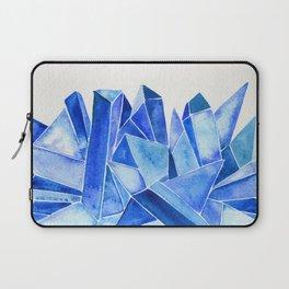 Sapphire Watercolor Facets Laptop Sleeve