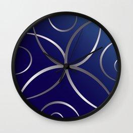 Silver roads Wall Clock