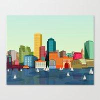 boston Canvas Prints featuring Boston  by Felita Go