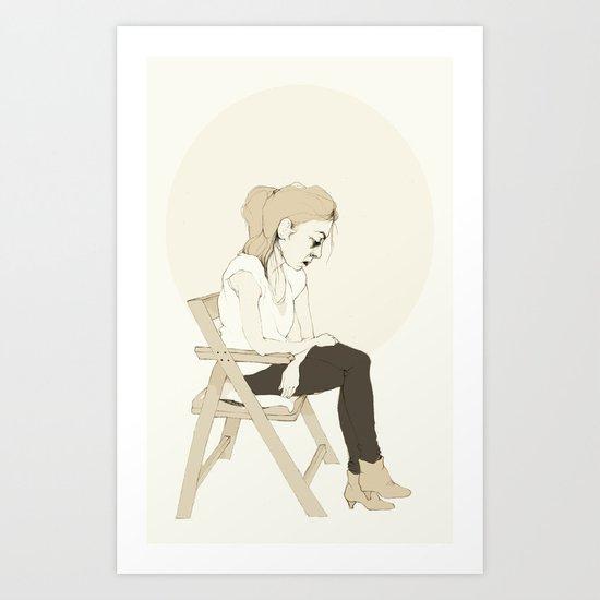 girl sitting Art Print