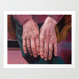 Virgilio's hands Art Print
