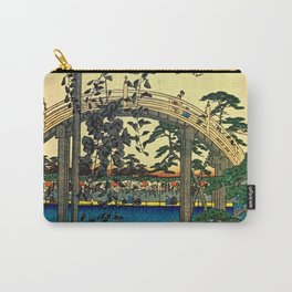Hiroshige View Of Bridge Over Water Carry-All Pouch