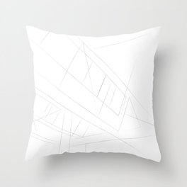 Abstract Lines Throw Pillow