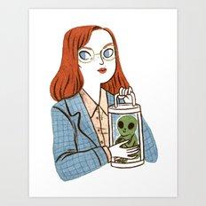 Dana Scully, Patron Saint of Nerds Art Print