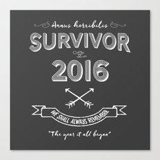 2016 Survivor Canvas Print