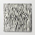 Zebra Stripes Tribal Black and Cream by followmeinstead