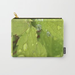 Spiraea Leaves Rain Drops Carry-All Pouch