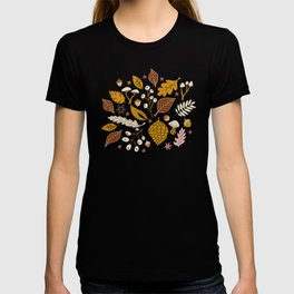 Fall Foliage in Gold + Brown T-shirt