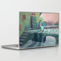 poem Laptop & iPad Skins featuring December Poem by Ofelia Yang
