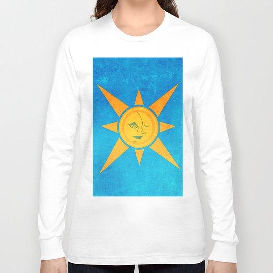 Sun Shining and Moon Sleeping Long Sleeve T-shirt