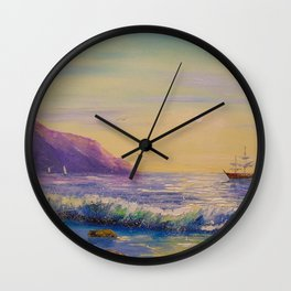 To his native shores Wall Clock