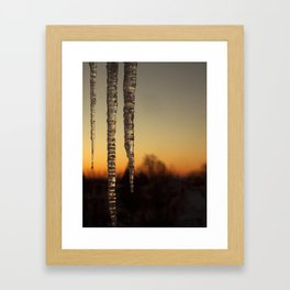 Icicles at Dawn Framed Art Print