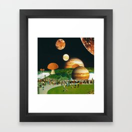 Fungi Waterfalls Framed Art Print