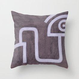 signo 9 blanco Throw Pillow
