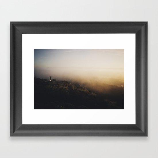 Sunset Fog Framed Art Print