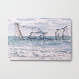 Jet Coaster Full Closeup Metal Print